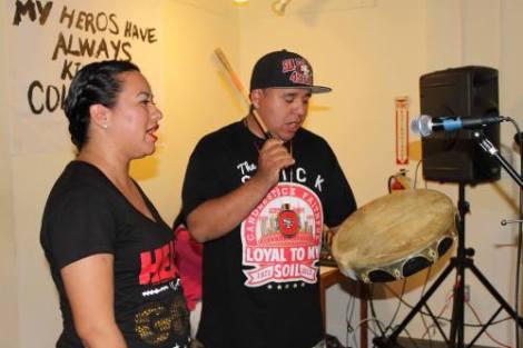 Sammy Lopez leading the round dance