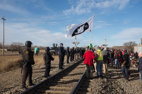 At the railroad tracks running parallel to State Highway 6, November 15, 2016.